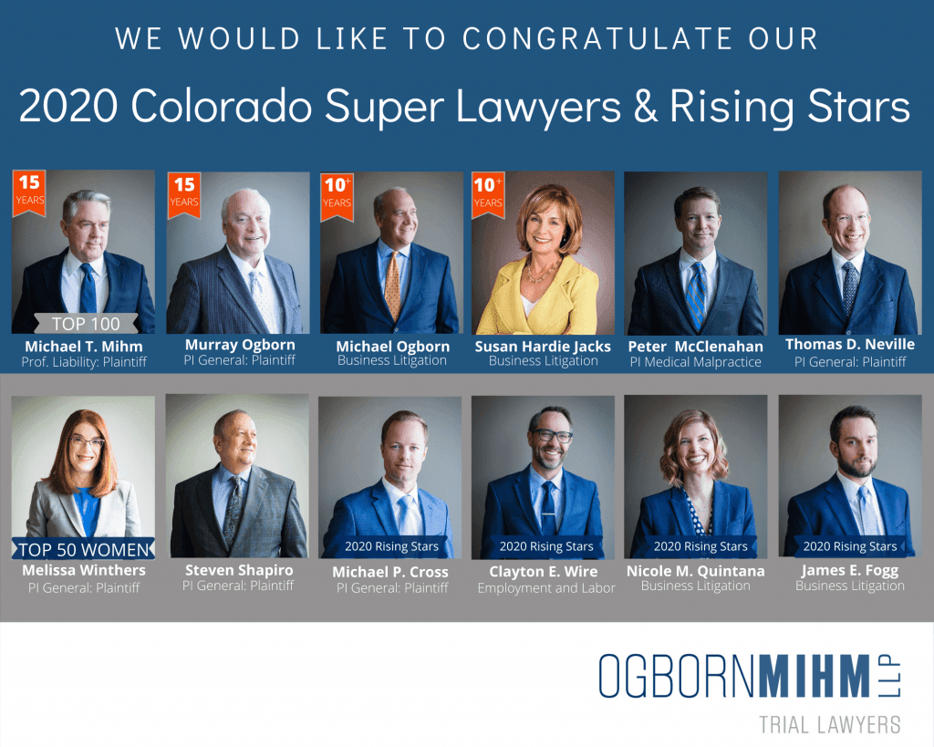 Thirteen Ogborn Mihm Attorneys Named to 2020 Super Lawyers List
