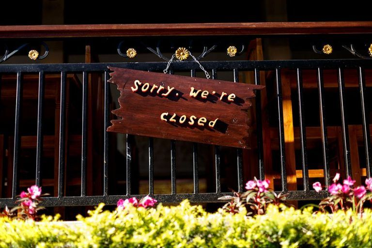 COVID-19 Corona Virus 2019 Non Essential Businesses Closed.