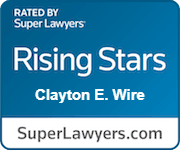 Clayton E Wire Rising Stars Rated By Super Lawyers.