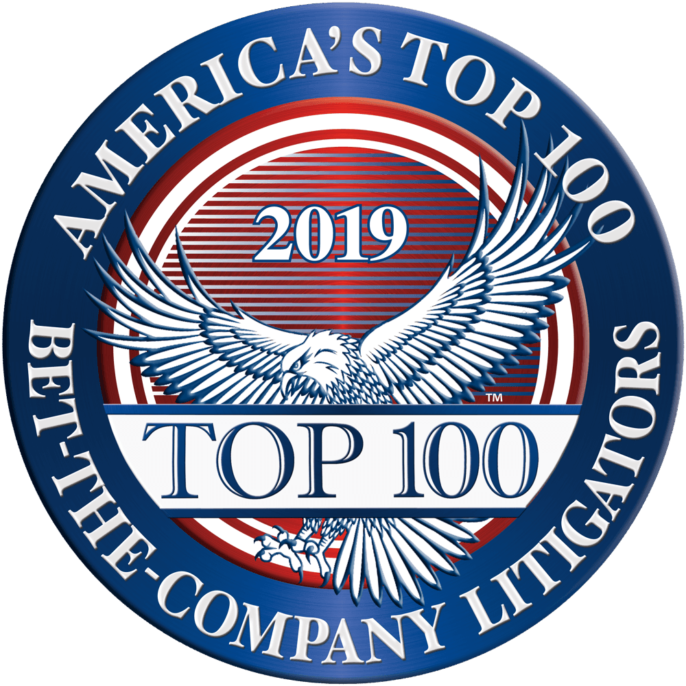 America's Top 100 Bet The Company Litigators 2019.