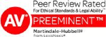 AV Peer Review Rated For Ethical Standards and Legal Ability.