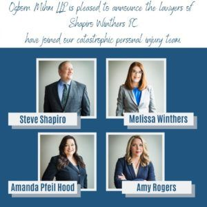 Steve Shapiro, Melissa Winthers, Amanda Pfeil Hood, And Amy Rogers Of Shapiro Winthers P.C. Join Ogborn Mihm, LLP Denver Colorado.